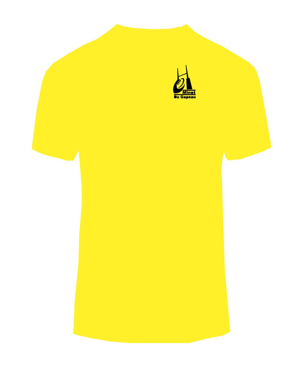 t-shirt homme jaune