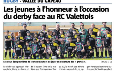 Les jeunes à l'honneur à l'occasion du derby face au RC Valettois